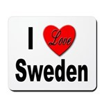 I Love Sweden Mousepad