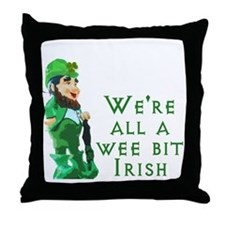 Wee Irish Throw Pillow