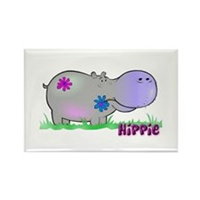 Hippie Hippo Rectangle Magnet (10 pack)