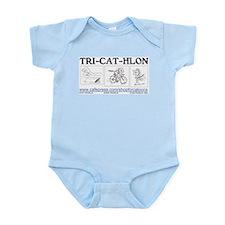 Catoons™ TRI-CAT-HLON™ Cat Infant Bodysuit