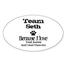 Team Seth Oval Sticker (10 pk)
