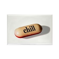 Chill Pill Rectangle Magnet