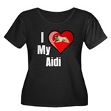 Aidi Women's Plus Size Scoop Neck Dark T-Shirt