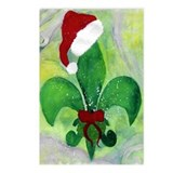 Christmas fleur de lis Postcards (Package of 8)