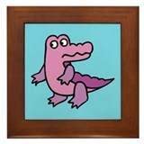 Purple Alligator Framed Tile