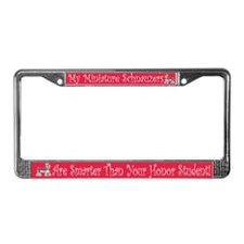Miniature Schnauzers Smarter License Plate Frame