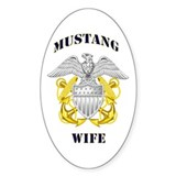 Blue Mustang Wife Oval Decal