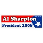Al Sharpton for President Bumper Sticker