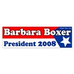 Barbara Boxer 2008 Bumper Sticker
