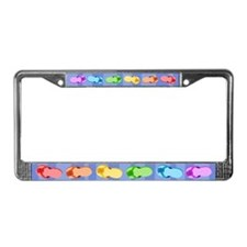 Rainbow Flip-Flops License Plate Frame