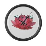 Namasté Large Wall Clock