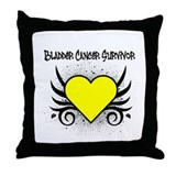 BladderCancerSurvivor Tattoo Throw Pillow
