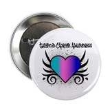 "Thyroid Cancer Tattoo 2.25"" Button (10 pack)"