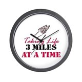 Taking Life 3 miles Wall Clock