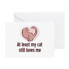 My Cat Loves Me Greeting Card