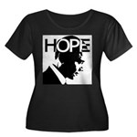 HOPE Obama Women's Plus Size Scoop Neck Dark T-Shi