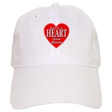 Have A Heart Give Blood Baseball Cap