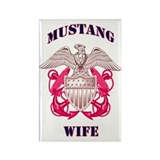 Pink Mustang Wife 2 Rectangle Magnet