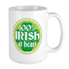 100% IRISH AT HEART Mug