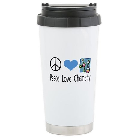 Peace Love Chemistry Ceramic Travel Mug