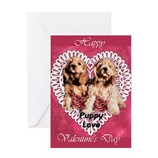 Cocker Spaniel Valentines Greeting Card
