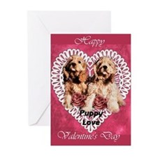 Cocker Spaniel Valentines Greeting Cards (Pk of 10