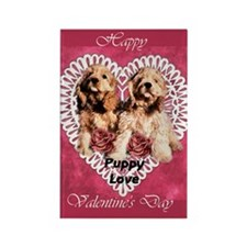 Cocker Spaniel Valentines Rectangle Magnet (100 pa