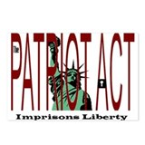 Patriot Act Imprisons Liberty Postcards (Package o