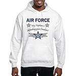 Air Force Nephew Defending Hooded Sweatshirt