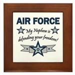 Air Force Nephew Defending Framed Tile