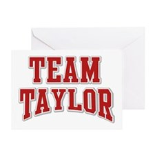 Team Taylor Personalized Custom Greeting Card