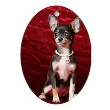 Chihuahua Oval Ornament