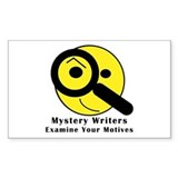 Mystery Writer Rectangle Decal