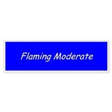 Flaming Moderate Bumper Bumper Sticker