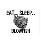 Eat ... Sleep ... BLOWFISH Postcards (Package of 8