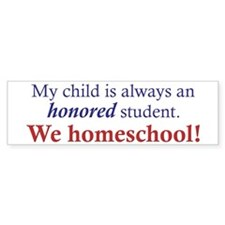 Honored Student Bumper Bumper Sticker