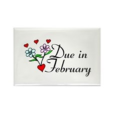 Due In February Rectangle Magnet