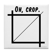 Oh, Crop Tile Coaster