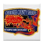 Cherokee County Anti-Drug Tile Coaster