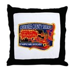 Cherokee County Anti-Drug Throw Pillow