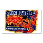 Cherokee County Anti-Drug Rectangle Sticker 10 pk