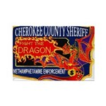 Cherokee County Anti-Drug Rectangle Magnet (100 pa