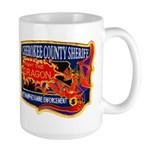 Cherokee County Anti-Drug Large Mug