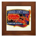 Cherokee County Anti-Drug Framed Tile