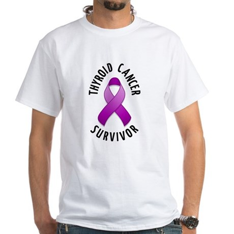 Thyroid Cancer Survivor White T-Shirt