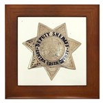 Contra Costa Sheriff Framed Tile