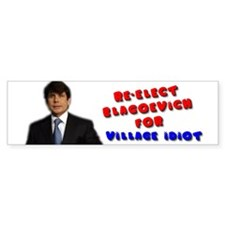 RE-ELECT BLAGOJEVICH! Bumper Bumper Sticker