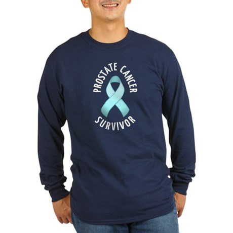 Prostate Cancer Survivor Long Sleeve Dark T-Shirt