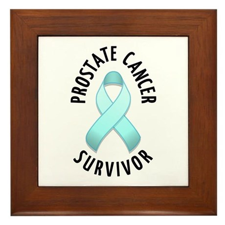 Prostate Cancer Survivor Framed Tile