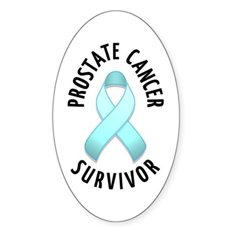Prostate Cancer Survivor Oval Sticker